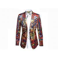 Quality Qing Court Type Mens Printed Suits Ancient Painting Pattern Anti - Shrink for sale