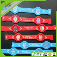 China Blue 2000cc IONS Power Sports Silicone Bracelets / Positive Ion Wristbands for Promotion on sale