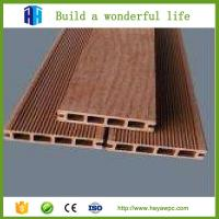 Quality Chinaheya hollow design wpc wood plastic flooring lumber price list for sale