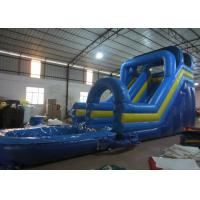 Quality Digital Printing Long Inflatable Giant Slip And Slide , Amusement Park Outdoor Water Slides for sale