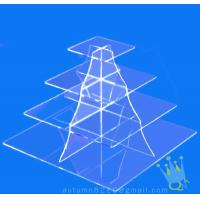 Quality CD (105) 4 tier acrylic square cake stand for sale