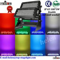 Quality IP65 180*3W Double led wall washer light fixture for sale