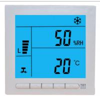 Large LCD Digital Fcu Thermostat / Temperature Humidity Thermostat Wired Controller for sale