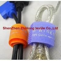 Customized screen printed flexible  hook loop cord strap/cable ties for sale