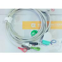 Quality Gray Color GE One Piece Ecg Patient Cable For Patient Monitoring Devices for sale