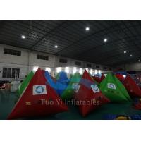 Quality Triangle Mutil Color Inflatable Water Buoy , Digital Printing Swimming Area Buoy for sale