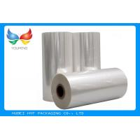 Quality 45mic Thermal Heat  PVC Shrink Film Rolls , Pvc Shrink Wrap Film For Plastic Bottle Label for sale