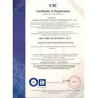 ANHUI CRYSTRO CRYSTAL MATERIALS Co., Ltd. Certifications