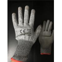 Buy 13 gauge Knitted Cut level 3 coated PU palm gloves/Cut resistant gloves at wholesale prices