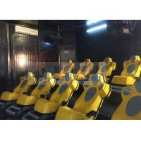 Quality Interaction Reality 7D Movie Theater With Yellow Motion Seats for sale