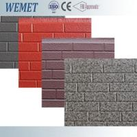 China 16mm thickness metal facade polyurethane foam decorative exterior wall panel customized on sale