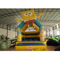 Quality Spongbob Cool Bounce Houses , Backyard Industrial Bounce House Quadruple Stitching for sale