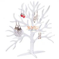 Quality Acrylic Display Stand Earring Jewelry Holder Countertop Holds10 Pairs Tree Shaped for sale