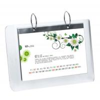 Quality 5mm OEM White Country Acrylic Calendar Holder / Plexiglass Desk Stand SGS for sale