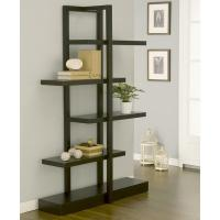 Quality Modern Wood MDF Display Stands America Addison Cappuccino Bookcase Furniture for sale