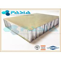 Brushed Honeycomb Aluminum Plate , Lightweight Building Panels Thermal Insulation