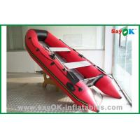 Quality Fiberglass Red PVC Inflatable Boats Funny Lightweight Inflatable Boat for sale