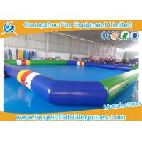 Quality 0.9 MM Pvc Tarpaulin Blue / Green Inflatable Swimming Pools Portable Above Ground for sale