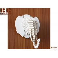 Quality 2017 new DIY wood carved elephant head for wall decoration wooden home decoration for sale