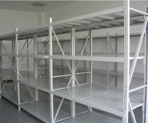 Buy cheap Q235B Light Grey / Dark Blue Warehouse Steel Storage Racks Powder Coating from wholesalers