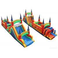 Quality Children Jumping Inflatable Bounce House , Minimize Air Leakage Giant Obstacle Course for sale