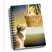 Quality Cartoon Pet Hardcover 3d Lenticular Notebook With Spiral Binding For Student Diary for sale