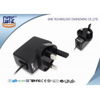 Buy AC DC Wall Mount Power Adapter 220v to 12v 0.5a UK Plug Black and White at wholesale prices