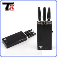 China Handheld GPS Signal Jammer Cell Phone Blocker 3 Antenna Durable For GSM on sale