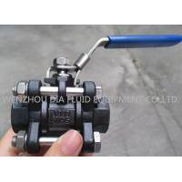 3PC Oil Industrial Ball Valves with Socket - welding End , Lockable Handle for sale