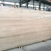 Standard Size White Wooden Marble Slab 15-30mm Thickness For Indoor for sale