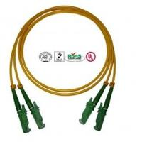 Quality 0.9mm PVC E2000 Fiber Optic Patch Cables Single Mode Double Cores for sale