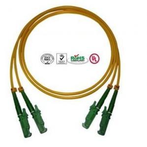 Quality 0.9mm PVC E2000 Fiber Optic Patch Cables Single Mode Double Cores for sale