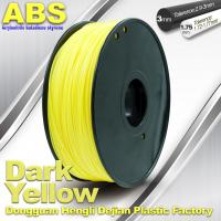 Quality Dark Yellow ABS  Filament ,  Filament 3D Printing Plastic Material 1.75 / 3mm for sale