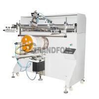 Buy cheap YZ-1200R round plastic buckets semi-automatic 1-color cylindrical screen printing machine from wholesalers