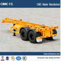 China CIMC tri-axle 30 tons 20 foot skeletal container chassis trailer on sale