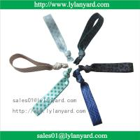Quality Fold Over Polyester Customized Elastic Knotted Fabric Hair Tie For Girl for sale