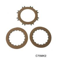 High-strength aluminum alloy motorcycle parts clutch plates friction with 17 teeth C70 for sale