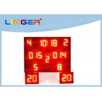Quality Indoor Outdoor LED Basketball Scoreboard , Basketball Countdown Timer Waterproof for sale