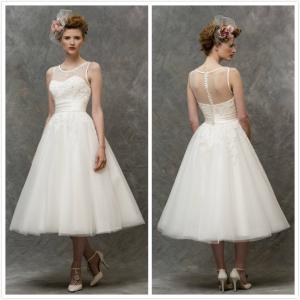 Quality Short wedding gown shouders Bridal wedding dress#Lizzie-W136 for sale