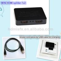 Plastic shell hdmi splitter with 1 input 2 input for sale