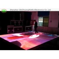 Quality P8.928 full color customised interactive led floor tile screen, interactive dance floor without moire effec for sale