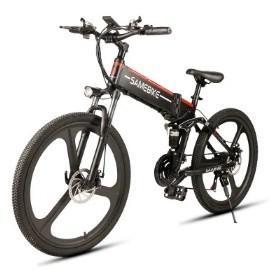 Quality www.yolcart.com Samebike LO26 Smart Folding Moped Electric Bike E-bike - BLACK EU PLUG for sale