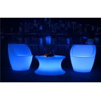 Quality Commercial LED Nightclub Furniture Infrared Remote Control RGBW LED Light Chair for sale