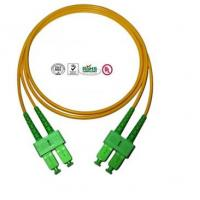 Quality Single Mode SC Fibre Optic Patch Cords APC , Full Duplex Fiber Optic Cable for sale