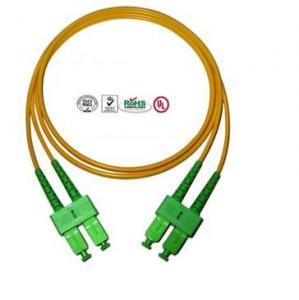 Quality Single Mode SC Fibre Optic Patch Cords APC , Full Duplex Fiber Optic Cable for sale