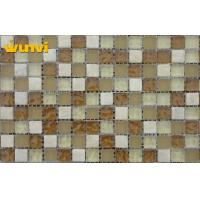 Quality Interior Non Slip Roof Glass Ceramic Mosaic Tiles With 15 × 15mm Chip Size for sale