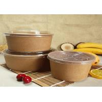 Quality Customized Kraft Salad Fruit Food Paper Dessert Bowls With PLA Coating for sale