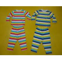Quality Comfy Multi Striped Kids Pajama Sets , Toddler Boys Winter Pajamas Private Label for sale