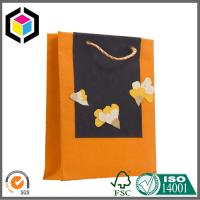 Quality Matte Orange Color Printed Paper Bag; Twisted PP Handle Paper Shopping Bag for sale