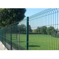China Green Pvc Coated Welded Wire Mesh Fence / 3D Curved Wire Mesh Fencing on sale